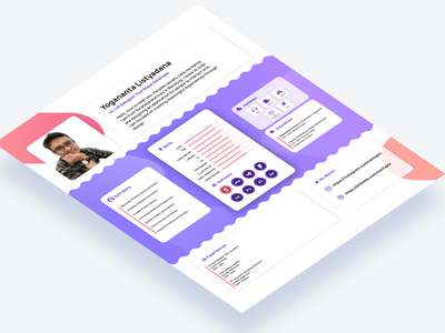 Professional CV for Designer - Mockup curricular vitae ux vector ui design cv layout resume cv curriculum vitae