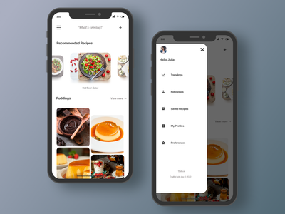 Eat.co | Recipe Sharing Mobile Application vector avatar mobile design typography iphonex iphone icon mobile app mobile ux uiux ui branding android app design android app android