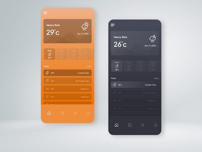 Weather App UI clear skies design uxdesign weatherapp weather forecast cloudy cloud thunderstorm app android ux mobile uiux ui weather app rainy