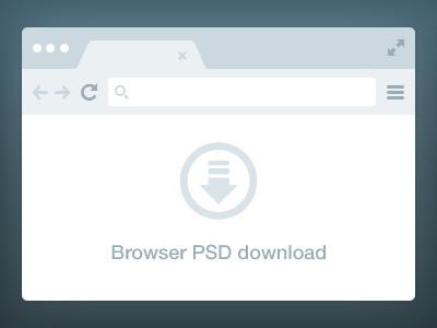 Browser Freebie PSD browser freebie free chrome clean simple