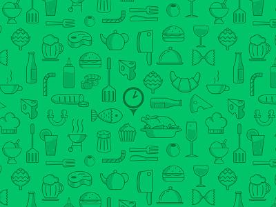 Restu pattern pattern green food reservation restu outline