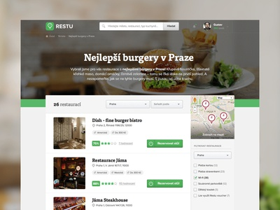 Best burgers in Prague green list clean burger simple proxima-nova tisa