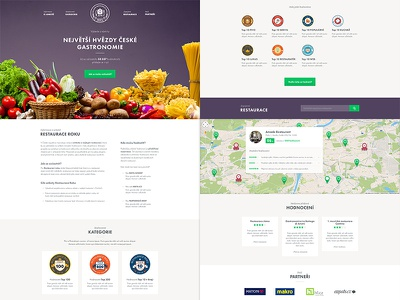 Restaurant of the year restaurant poll food microsite futura-pt crete-round clean purple green