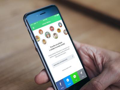 Invite Friends ios invite facebook messenger green simple clean ios6 iphone