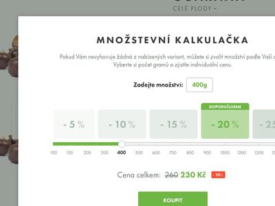 Quantity calc clean simple green calc