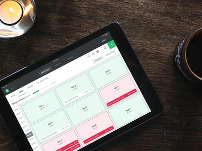 Table management app clean simple green restu management table