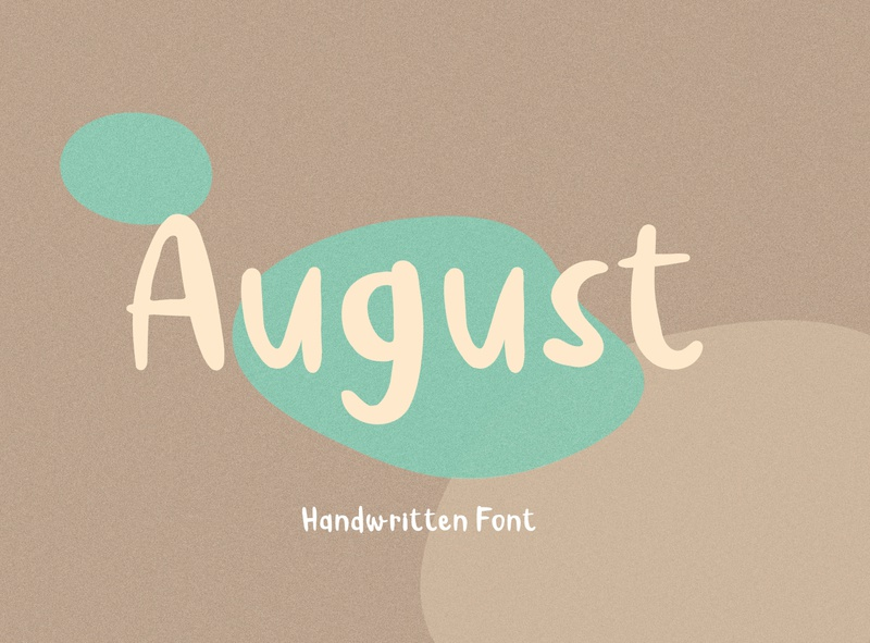 August Handwritten Font modern style branding graphic design lifestyle natural stroke handwritten typeface fonts