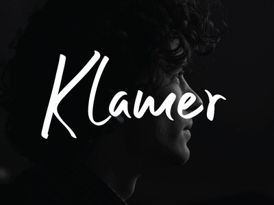 Klamer Font logo character graphic font typeface branding design handwrittenfont script