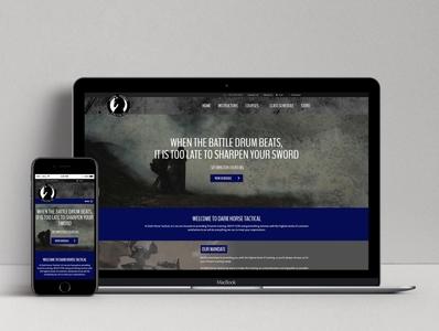Dark Horse Tactical Website ui web design website