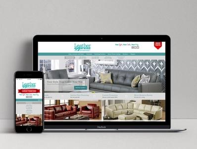 Leather Express Website website design website