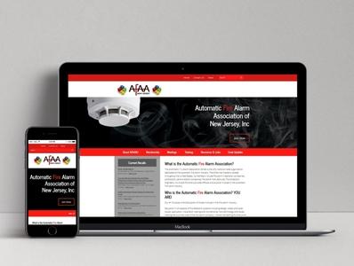 AFAANJ Website design website