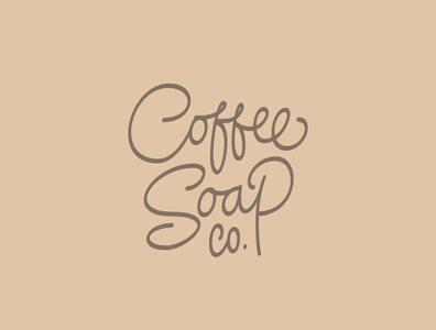Coffee Soap Co. Custom Lettering Logo vector line art lettering logo