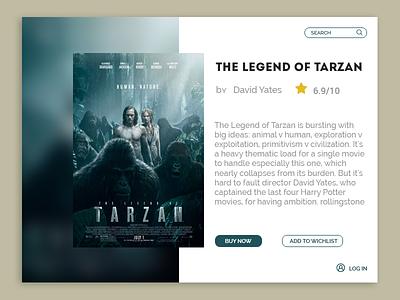 The Legend of Tarzan ux dashboard card tarzan the legend ios dailyui ui movie
