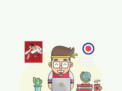 Streaming Arsenal illustration arsenal design
