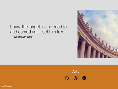 Artt end and footer page design