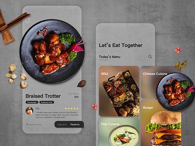 Daily UI Challenge 04 - Food Sharing ui challenge ui sketch glassmorphism vector dailyuichallenge dailypractice app design uidesign uiux food