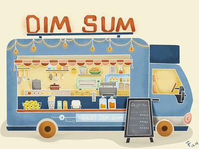 Food Truck - Illustration food dimsum foodtruck procreate illustration vector design dailypractice