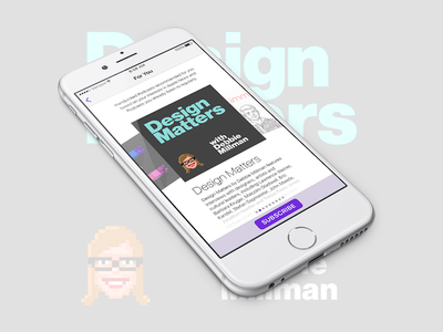 Daily UI #026 Subscribe subscribe design matters podcasts dailyui