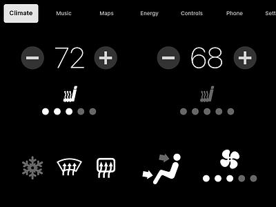 Daily UI #034 Car Interface touch temperature climate carplay car interface 034 dailyui