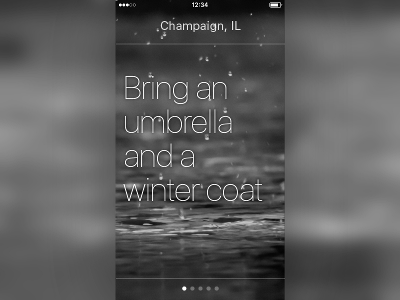 Daily UI #037 Weather san francisco ios unsplash weather 037 dailyui