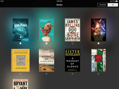 DailyUI #044 Favorites blur star filters books favorites 044 dailyui