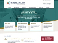 Home page concept for Williams Keen Center