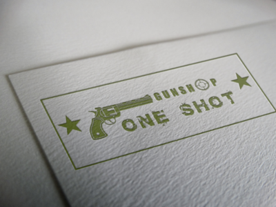Gunshop logo businesses card gunshop guns logo
