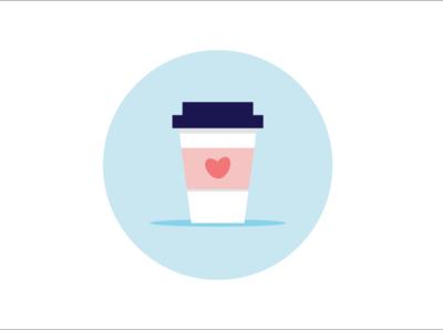 But first, coffee! art illustrator flat minimal icon vector design illustration
