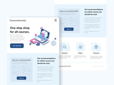 Landing Page landing page simple uikit web ui ui design dailyui 003 dailyui minimal