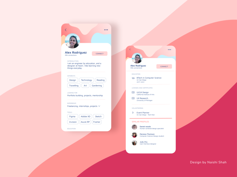 User profile concept simple mobile ui minimal ui design dailyui006 dailyui screen design ui concept