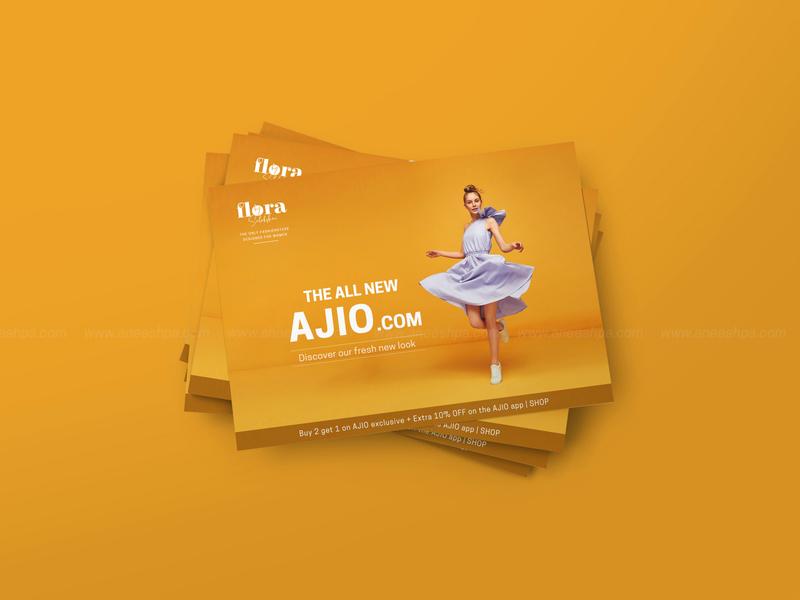 Fashion Store Ads branding fashion brand flyer design typography