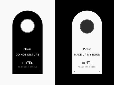 Hotel Door Hanger Design door hanger brand design typogaphy type minimal logo identity icon hotel font design branding