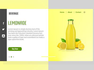 Beverage UI/UX xd figma design illustration ux ui
