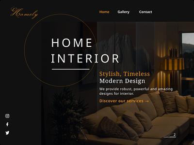 Interior web app design website typography minimalist app minimal flat web ui figma design