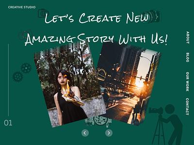 Creative Studio Web App Concept visual design visual webdesign studio photograhy app website minimalist flat web ui figma design