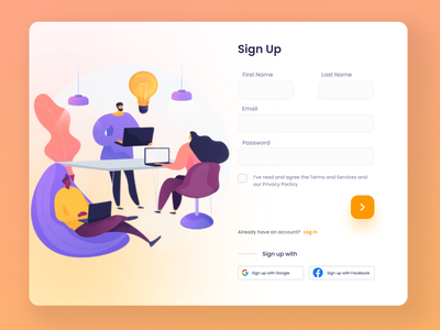 Sign up page web concept figma concept flat web minimal ui design ui dailyuichallenge dailyui graphicdesign illustrations web design web ui signup