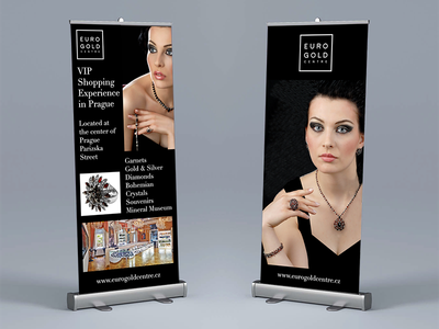 Luxury Brand Roll-up Banner Design print luxury design banner rollup