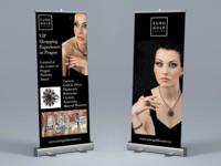 Luxury Brand Roll-up Banner Design
