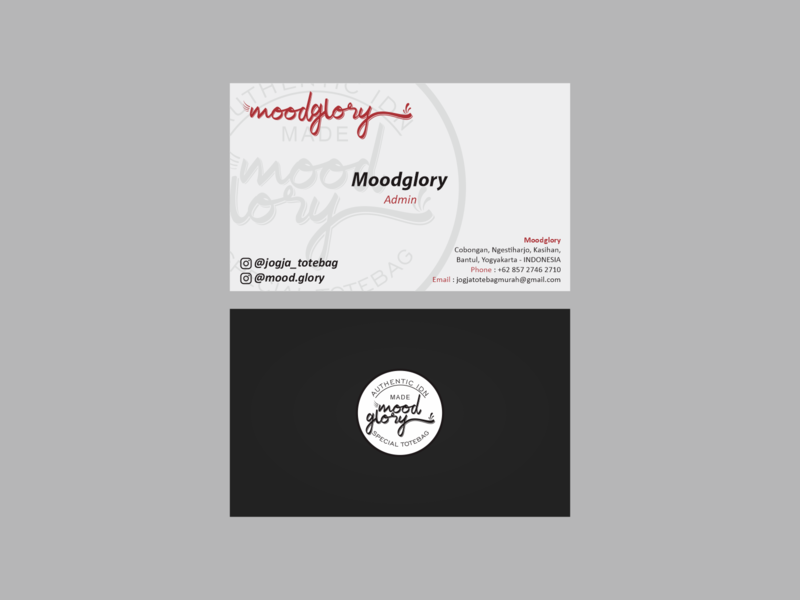 Business Card for Moodglory layout coreldraw design business branding business card design
