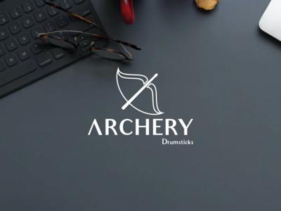 Archery Drumsticks identity idea drumstick drumsticks drums graphic design branding logotype logo brand archery archer