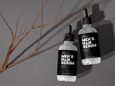 Men's Hair Serum Label Design product label design lipstick label illustration design food label healthy food label cosmetics label design design templates amazon packaging