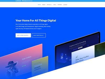 TechOnline Web Development minimal web branding logo design