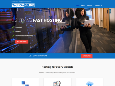 TechOnline Hosting website minimal web logo design branding