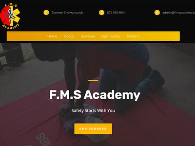 F.M.S Academy Website website web minimal design branding