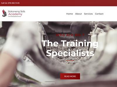 Bokoneng Skills Academy typography ui website web minimal design branding