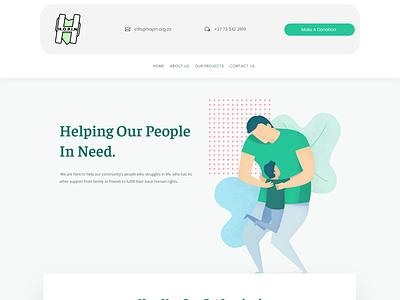 H.O.P.I.N logo website web minimal design branding