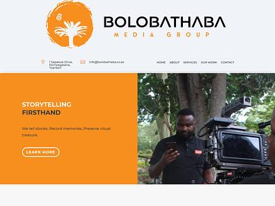 Bolobathaba Media Group typography website web minimal design branding