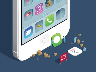 iOS 7 moves in ios7 iso 7 iphone illustration vector isometric moving