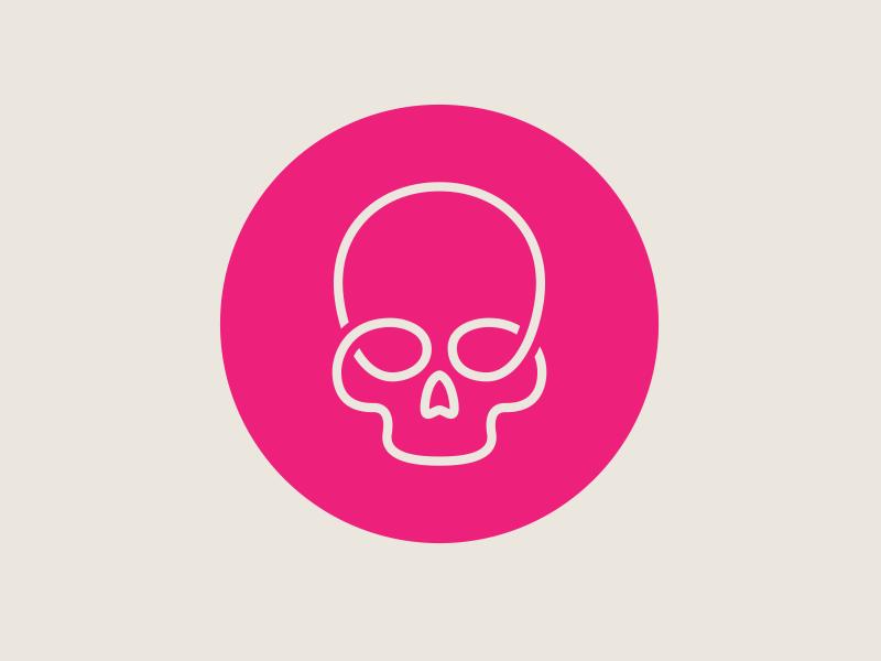 Skullink logo skull design lines identity