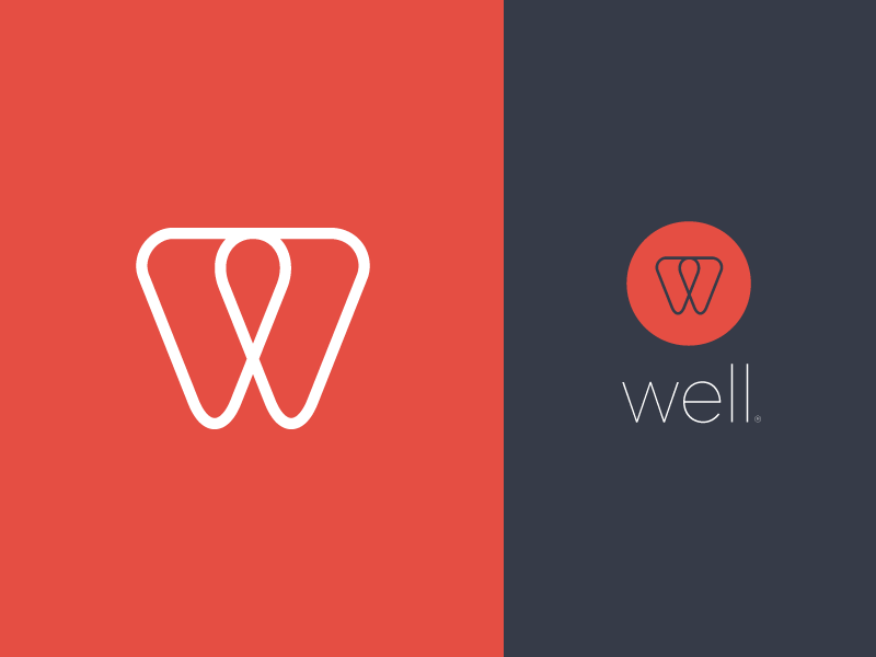 Well v2 well simple logo brand visual identity w